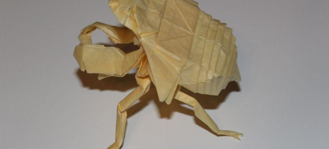 Scaled Works of Satoshi Kamiya 2 11-12 – Caged Scorpion Origami