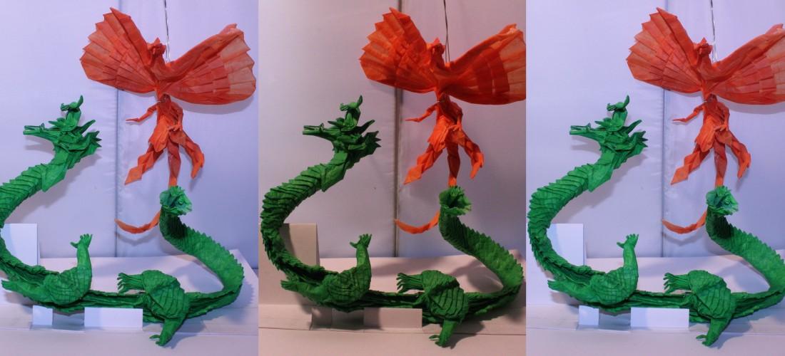 Ryujin Caged Scorpion Origami